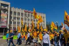 Краснодар, Россия - 1-ое мая 2017: & x22; Справедливое Russia& x22; политическая партия Стоковое Изображение RF