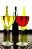 красное белое вино Стоковое Изображение
