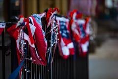 Красное белое голубое патриотическое знамя Стоковое Фото