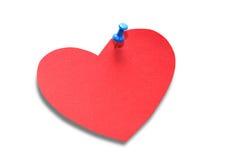 Красное бумажное сердце Стоковые Фотографии RF