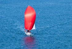 красное ветрило Стоковое Фото