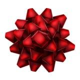 Красное взгляд сверху смычка 10 eps Стоковая Фотография