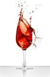 красное вино выплеска Стоковое фото RF