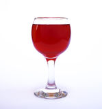 Красное вино в кристаллическом стекле Стоковые Изображения RF