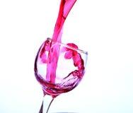 Красное вино в кристаллическом стекле Стоковое Изображение