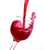 Красное вино в кристаллическом стекле Стоковое Изображение RF