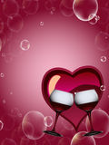 красное вино здравицы Стоковые Фотографии RF