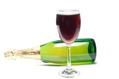 Красное вино и вино виноградин Стоковые Изображения