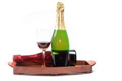 Красное вино и вино виноградин Стоковые Изображения RF