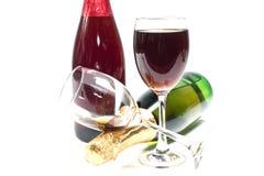 Красное вино и вино виноградин Стоковое Фото