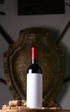 Красное вино и пробочки Стоковая Фотография RF