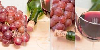 Красное вино - множественные изображения Стоковые Фотографии RF