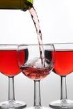 красное вино потока Стоковые Изображения
