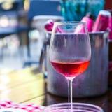 красное вино ресторана Стоковая Фотография RF