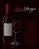 Красное вино Бесплатная Иллюстрация
