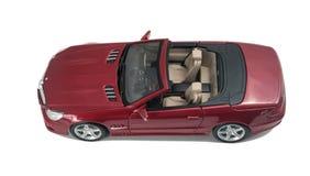 Красное вид спереди cabriolet автомобиля стоковое фото