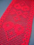 Красное вязание крючком Стоковые Фотографии RF