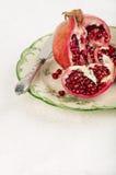 Красное гранатовое дерево Стоковые Фото