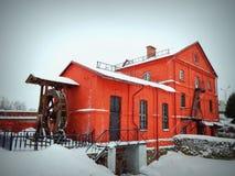 Красное здание, мельница Построенный в столетии XVIII Стоковое фото RF
