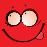 Красное лицо Стоковое Фото