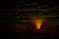 Красное и желтое bokeh праздника абстрактное рождество предпосылки Стоковое фото RF