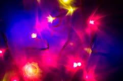 Красное и желтое bokeh праздника абстрактное рождество предпосылки Стоковые Изображения