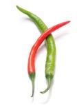 Красное и зеленое зябкое стоковое изображение rf