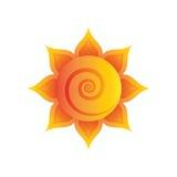 Красное и оранжевое солнце Стоковое фото RF