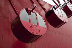 Красное колесо Ferris стоковое изображение rf