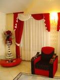 Красное кресло стоковые изображения