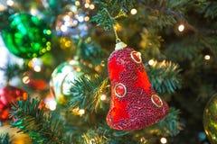 Красное Кристмас колокол Стоковое Фото