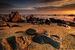Красное место пляжа Стоковое Изображение