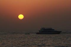 Красное Море захода солнца Стоковое Изображение RF