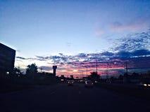 красное небо Стоковые Фотографии RF