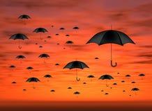 красное небо иллюстрация штока