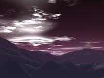 красное небо иллюстрация вектора