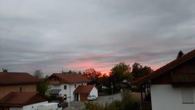красное небо Стоковая Фотография