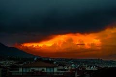 красное небо Стоковое фото RF