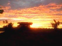 красное небо Стоковое Фото