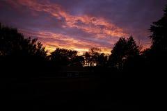 красное небо Стоковые Фото