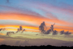Красное небо Everyglades Стоковое Изображение RF