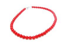 Красное ожерелье Стоковые Изображения