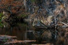 Красное озеро Стоковые Изображения RF
