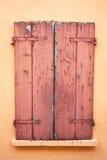 Красное окно сбора винограда Стоковая Фотография