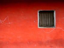 красное окно Стоковое фото RF