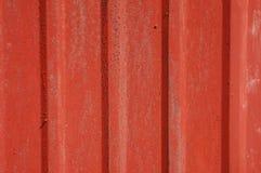 красное олово siding Стоковые Изображения