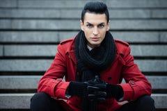Красное пальто Стоковые Изображения RF