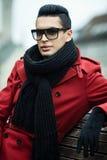 Красное пальто Стоковое Изображение