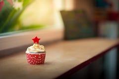 Красное пирожне бархата Стоковая Фотография RF