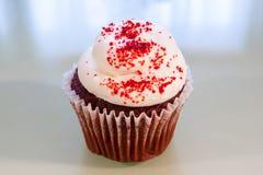 Красное пирожное бархата Стоковые Фото
